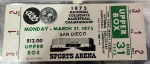 kentucky 1975 ticket stub