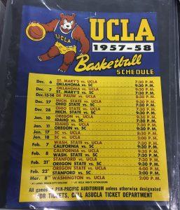 ucla 1958 schedule